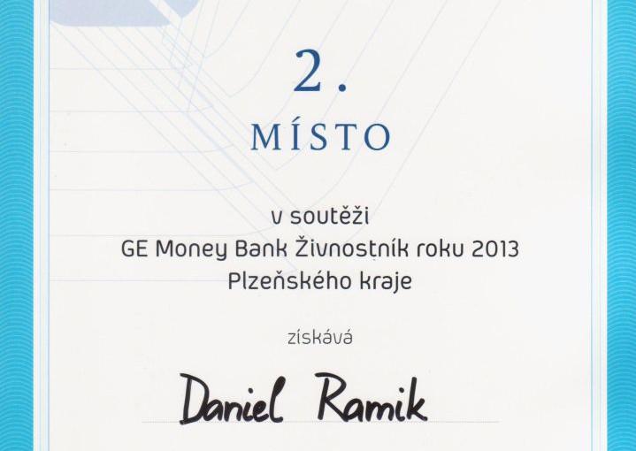 Daniel Ramík - soutěž Živnostník roku 2013